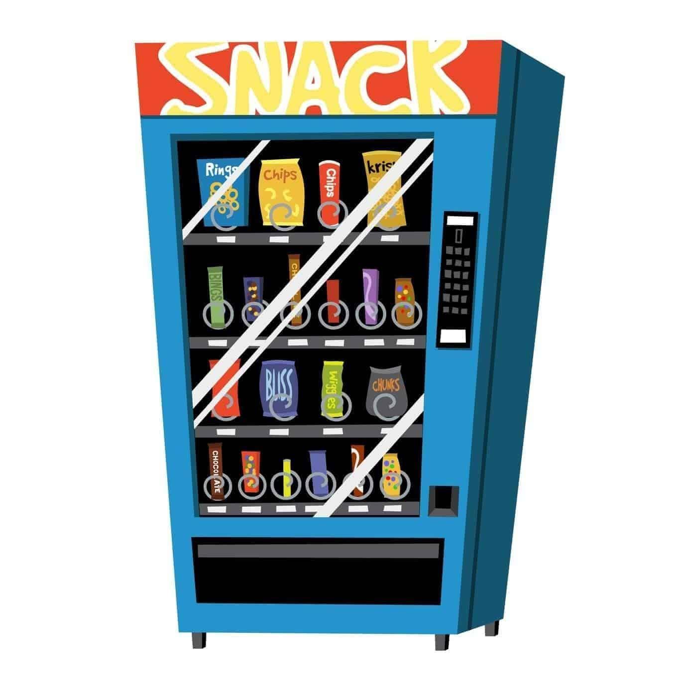 Distributeur automatique de snacks, confiseries et repas
