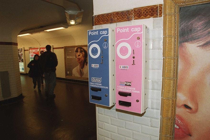 distributeur automatique de préservatif