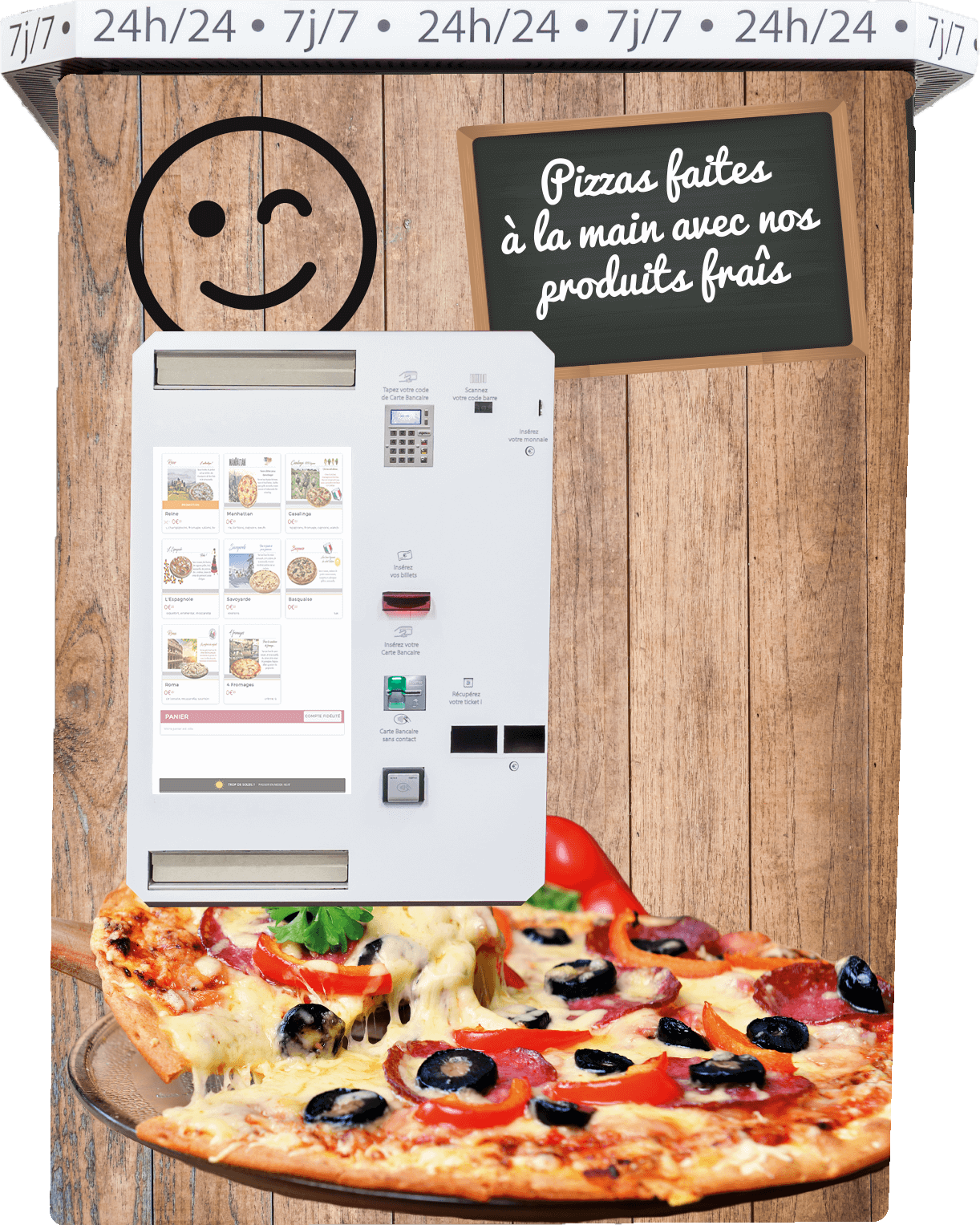 exemple de distributeur de pizza automatique